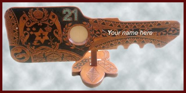Pacific carving house carved st keys samoan key